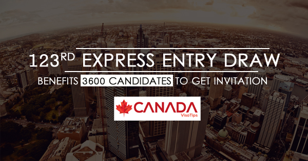 123rd Express Entry Draw, Canada PR