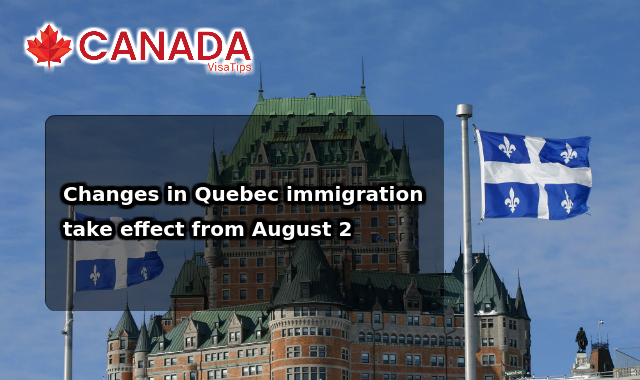 Changes in Quebec immigrationtake effect from August 2