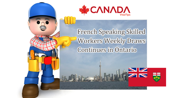 French Speaking Skilled Workers Weekly Draws Continues in Ontario