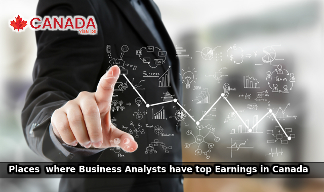 Places where Business Analysts have top Earnings in Canada