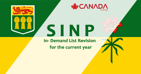 SINP in- Demand List Revision for the current year